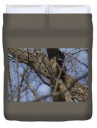 Great Horned Owl On Watch Duvet Cover