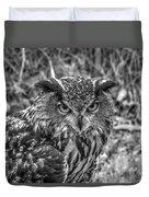 Great Horned Owl V7 Duvet Cover