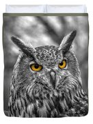 Great Horned Owl V9 Duvet Cover