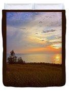 Great Lake Great Sunset Duvet Cover