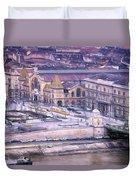 Great Market Hall Budapest Duvet Cover
