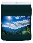 Great Smoky Mountains National Park On North Carolina Tennessee  Duvet Cover