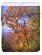 Great Smoky Mts From Blue Ridge Pkwy Duvet Cover