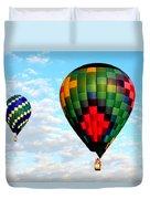 Great Texas Balloon Races Duvet Cover