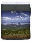 Great View On Top Of Cadilac Mountain Duvet Cover