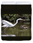 Great White Egret Looking For Fish 1 Duvet Cover