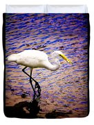 Great White Heron Duvet Cover