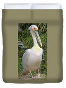 Great White Pelican Duvet Cover