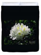 Great White Rhododendron Duvet Cover