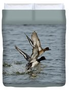 Greater Scaup Pair Duvet Cover