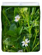 Greater Stitchwort Stellaria Duvet Cover