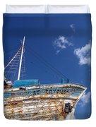 Greek Fishing Boat Duvet Cover