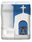 Greek Island Church Duvet Cover
