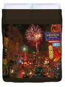 Greektown Night Duvet Cover