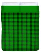 Green And Black  Plaid Cloth Background Duvet Cover