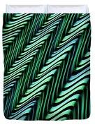 Green And Blue Folds Duvet Cover