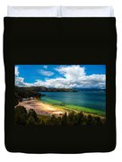 Green And Blue Lake Duvet Cover