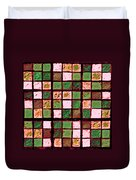 Green And Brown Sudoku Duvet Cover