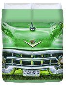 Green And Chrome-hdr Duvet Cover