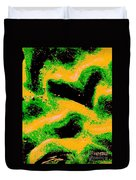 Green And Gold Pattern Abstract Duvet Cover