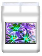 Green And Purple Cactus Duvet Cover