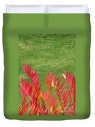 Green And Red Duvet Cover
