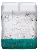 Green And White Wall Texture Duvet Cover