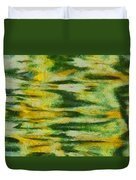 Green And Yellow Abstract Duvet Cover