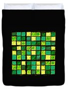 Green And Yellow Sudoku Duvet Cover