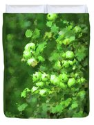 Green Apple On A Branch Duvet Cover