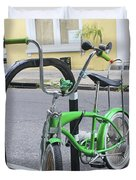 Green Bike Duvet Cover