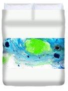 Green Blue Art - Making Waves - By Sharon Cummings Duvet Cover