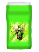 Green Bottle Fly Duvet Cover
