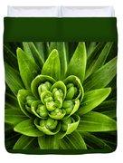 Green Buds Duvet Cover