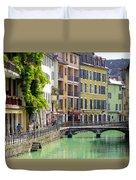 Green Canal Duvet Cover
