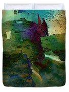 Green Castle Duvet Cover