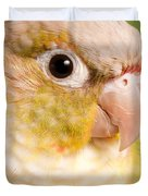 Green-cheeked Conure Pineapple P Duvet Cover