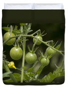 Green Cherry Tomatoes On The Vine Duvet Cover