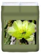 Green Cholla Beauty Duvet Cover