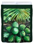 Green Coconuts  3  Sold Duvet Cover