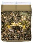 Green Crab Duvet Cover