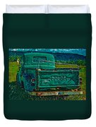 Green Dodge Duvet Cover
