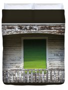 Green Door Galveston Tx  Duvet Cover