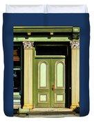 Green Door Duvet Cover