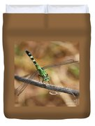 Green Dragonfly Square Duvet Cover