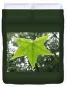 Green Droplets Duvet Cover