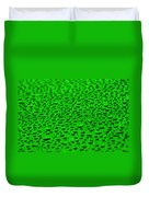 Green Drops On Water-repellent Surface Duvet Cover