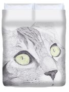 Green Eyed Cat Duvet Cover