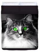 Green Eyed Elvis Duvet Cover