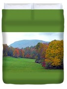 Green Field In The Fall Duvet Cover
